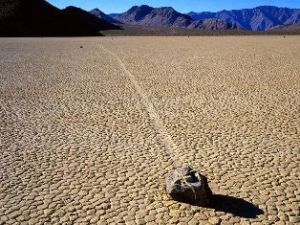 "image credit: Jim Gordon (Creative Commons); <a href="" http://commons.wikimedia.org/wiki/File:Racetrack_Playa,_Death_Valley,_CA.jpg "" target=""_blank"">image source</a>; <a href=""http://www.physicstogo.org/images/features/Racetrack_Playa,_Death_Valley,_large1.jpg"" target=""_blank"">larger image</a>."