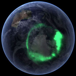 NASA's IMAGE Satellite View of Aurora Australis from Space image