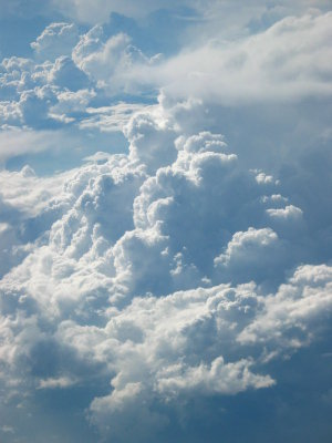 "Image credit: Axel Rouvin, Wikimedia; <a href=""http://en.wikipedia.org/wiki/File:Clouds.JPG"" target=""_blank"">image source</a>; <a href=""http://www.physicstogo.org/images/features/Clouds_large.JPG"" target=""_blank"">larger image</a>"