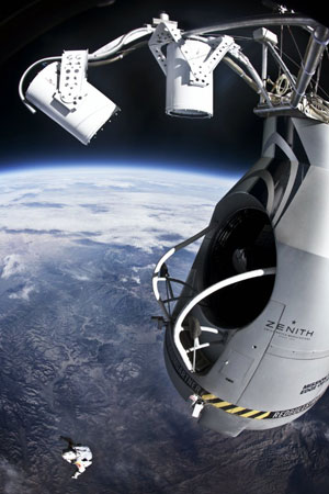image  Red Bull GmbH; &lt;a href=&quot;http://www.redbullstratos.com/gallery/&quot; target=&quot;_blank&quot;&gt;image source&lt;/a&gt;; &lt;a href=&quot;http://www.compadre.org/informal/images/features/Felix-after-jump-large.jpg&quot; target=&quot;_blank&quot;&gt;larger image&lt;/a&gt;