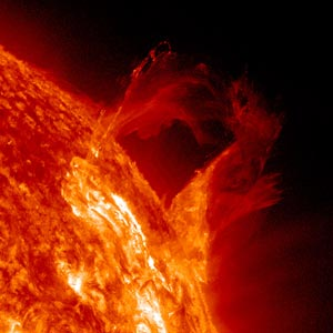 "image credit: Solar Dynamics Observatory/NASA; <a href="" http://sdo.gsfc.nasa.gov/gallery/potw.php?v=item&id=137"" target=""_blank"">image source</a>; <a href=""http://www.compadre.org/informal/images/features/STO-solar-prominence-large.jpg"" target=""_blank"">larger image</a>"