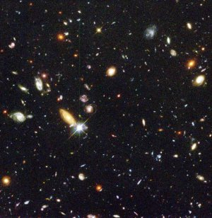 image credit: Robert Williams and the Hubble Deep Field Team (STScI) and NASA; &lt;a href=&quot;http://hubblesite.org/newscenter/archive/releases/1996/01/text/&quot; target=&quot;_blank&quot;&gt;image source&lt;/a&gt;; &lt;a href=&quot;http://www.compadre.org/Informal/images/features/hubble_deep_field-large.jpg&quot; target=&quot;_blank&quot;&gt;larger image&lt;/a&gt;