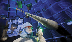 "image credit: <a href=""https://www.llnl.gov/"" target=""_blank"">Lawrence Livermore National Laboratory</a>; <a href=""https://lasers.llnl.gov/multimedia/photo_gallery/target_area/?id=9&category=target_area"" target=""_blank"">small image source</a>; <a href=""https://lasers.llnl.gov/multimedia/photo_gallery/target_area/?id=7&category=target_area"" target=""_blank"">large image source</a>"