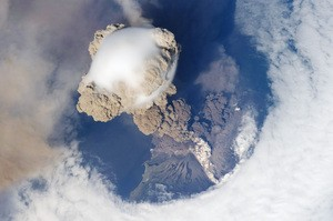Earth Observatory: Sarychev Peak Eruption, Kuril Islands image