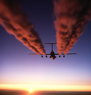 What is a contrail and how does it form? image