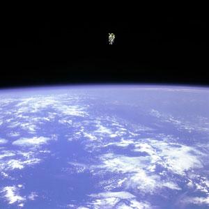 image credit: STS-41B, NASA; image source; larger image