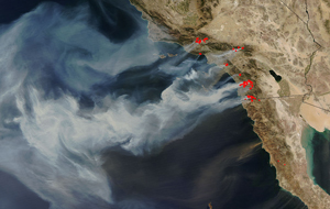 NASA Images of California Wildfires image